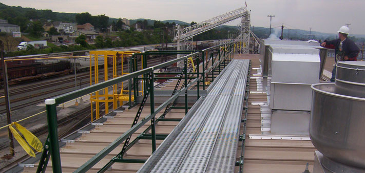Rooftop Walkways, Work Platforms, and Crossover Platform Systems