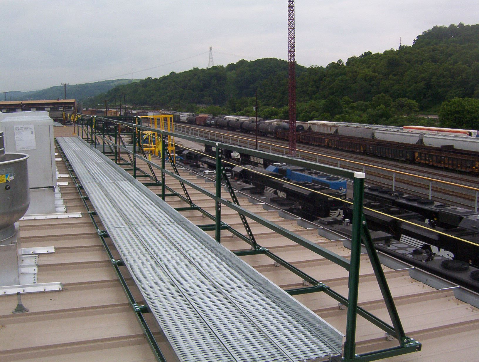 Rooftop Walkways Work Platforms And Crossover Platform