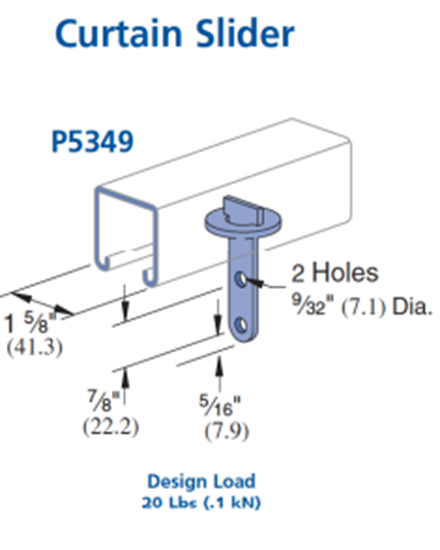 Picture of P5349 Curtain Slider