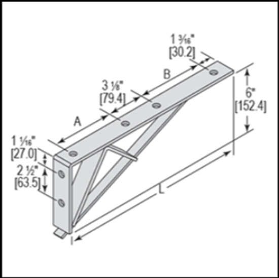 Picture of BR221650 Bracket Fitting for 1-5/8″ Channel