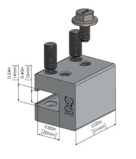 Picture of S-5! S-5-H90 Attachment  Clamps for Horizontal Seam Metal Roofs