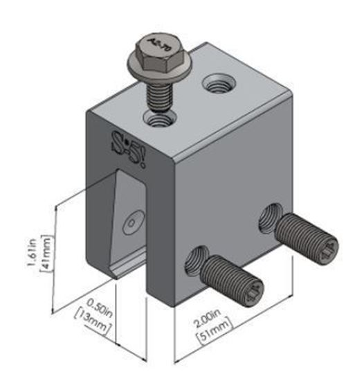 Picture of S-5! S-5-N 1.5 Attachment Clamps for Nail Strip Metal Roofs