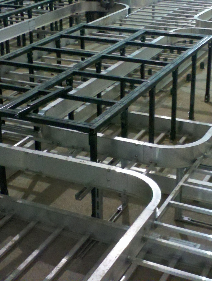 Unistrut For Floor Mounted Support Applications Unistrut