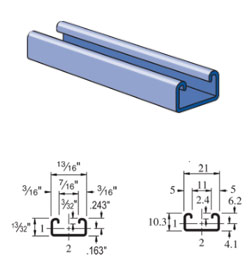 UNISTRUT steel channel