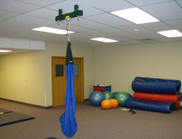 Physical therapy swing with Unistrut Support Structure