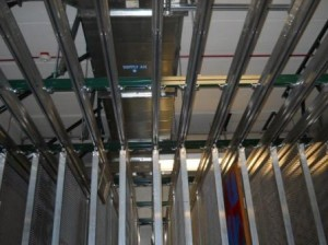 Unistrut Ceiling Support Structure With Racks