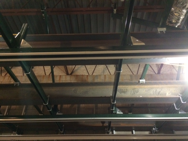 Unistrut support grid mounted using structural steel superstructure