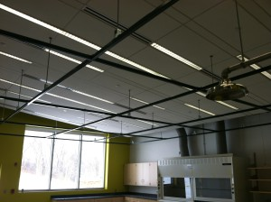 decorative Unistrut ceiling grid