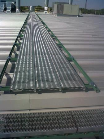 Roof Walkway Platforms & Serrated Serrated Grating Selection
