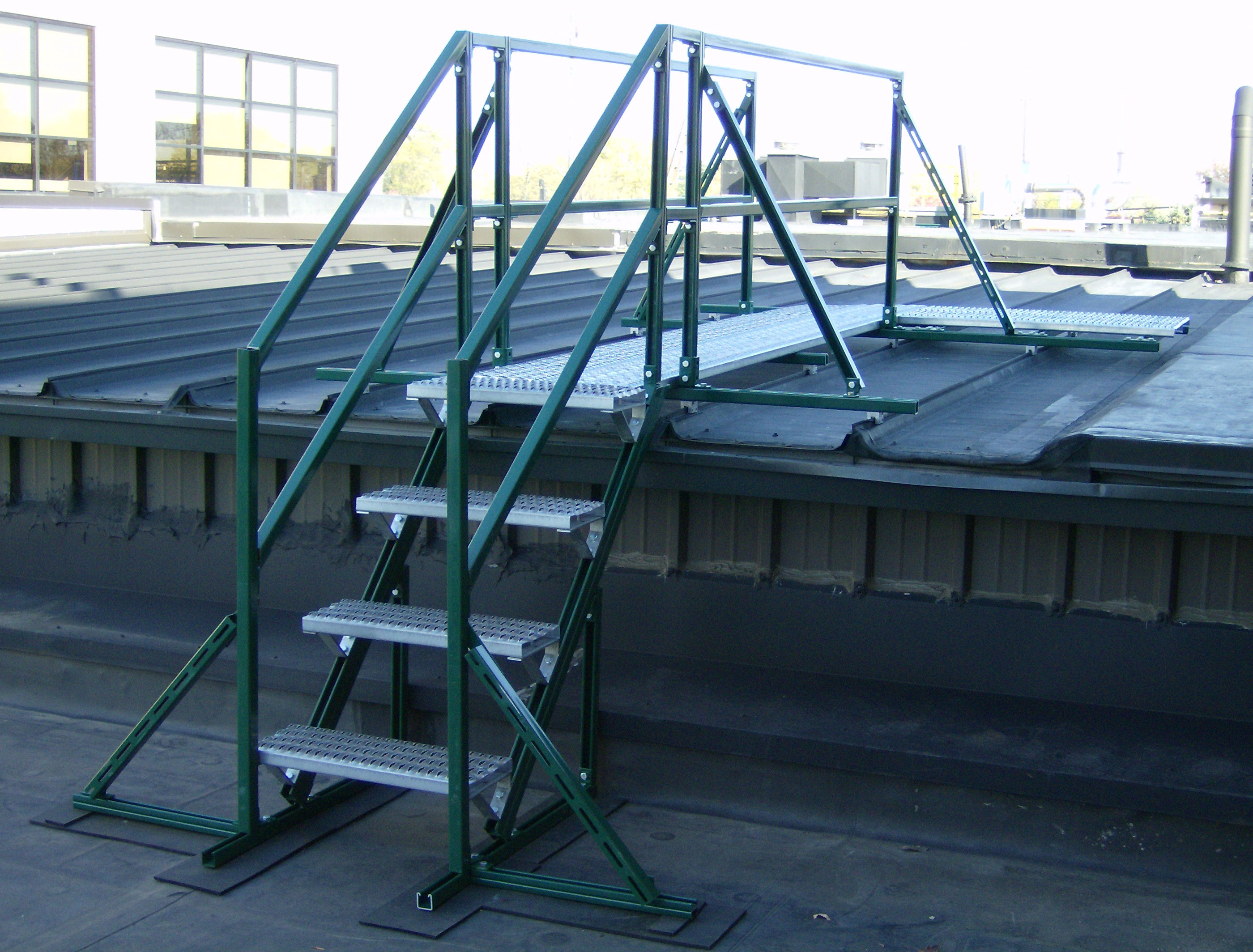 Unistrut Rooftop Walkways Work Platform Crossover