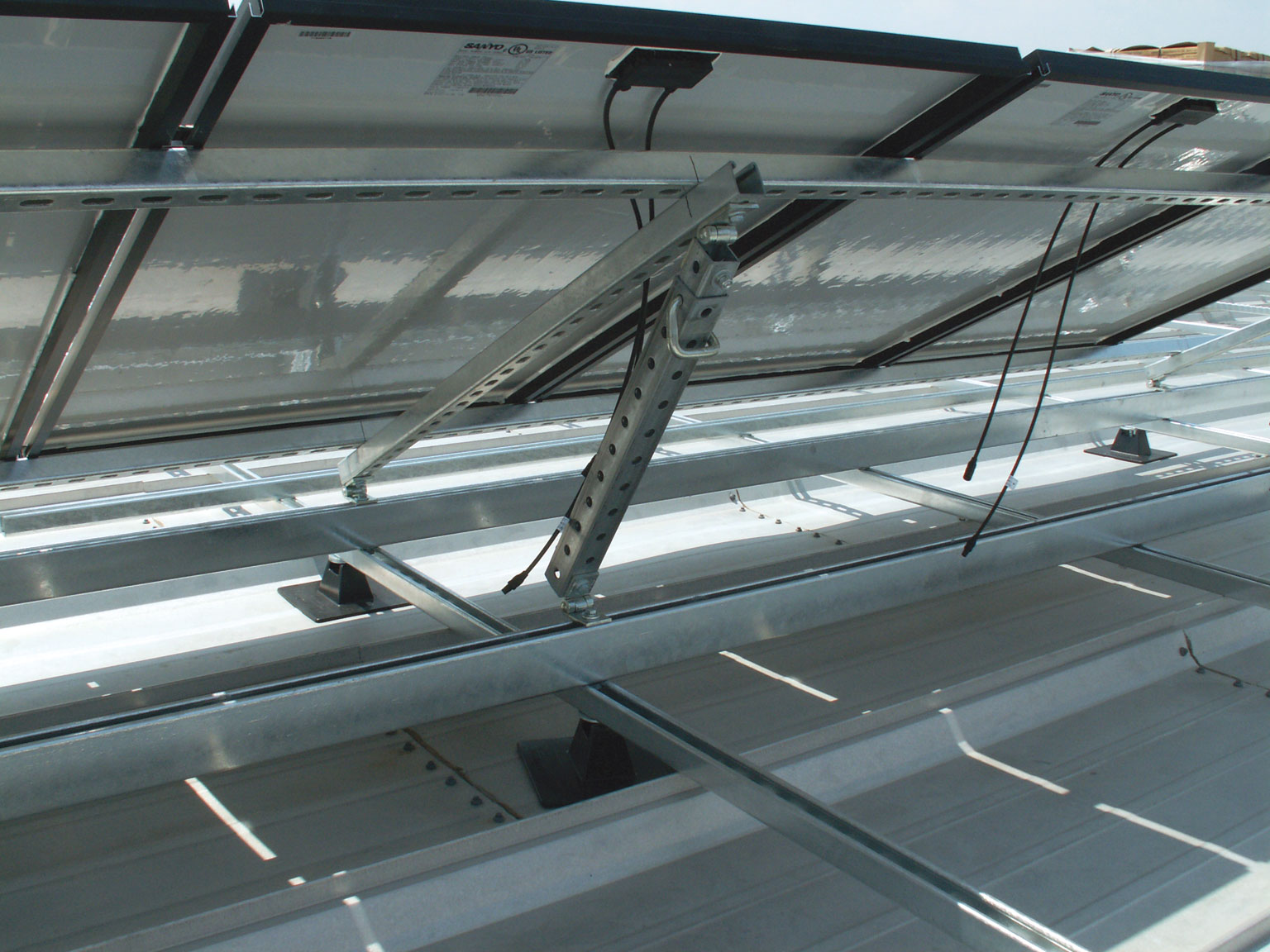 Unistrut Solar Panel Support Framing Structures